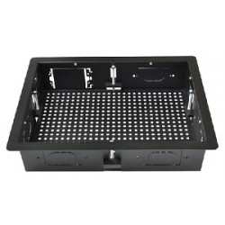 Intuitive Designs - IWB-1-BB - Inwall Component Enclosure (Large) (Breadboard Rear Panel) (Black)