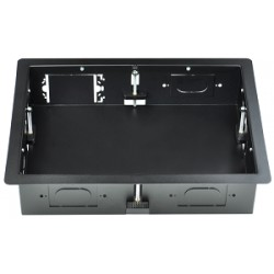 Intuitive Designs - IWB-1-SB - Inwall Component Enclosure (Large) (Solid Rear Panel) (Black)