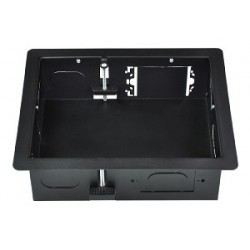 Intuitive Designs - IWB-2-SB - Inwall Component Enclosure (Small) (Solid Back Panel) (Black)