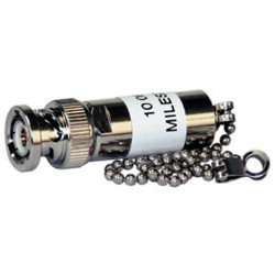 L-Com Global Connectivity - 10-06403-038 - 3-slot 3000 ohm TRB Stub Terminator Plug - 6.0 Brass chain