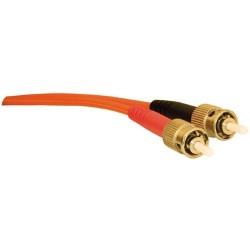 L-Com Global Connectivity - 27-200-005 - ST/ST MM Duplex Fiber Patch Cord 5 Meter