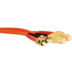 L-Com Global Connectivity - 27-500-002 - St/sc Mm Duplex Fiber Jumper 2 Meter