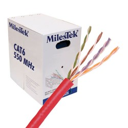 L-Com Global Connectivity - 30-60013-RED - Cat6 Pvc Riser Cmr Red 1k Pull Box 550 Mhz