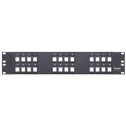 L-Com Global Connectivity - 50-23021 - Panel 2 Row X 12 Ports