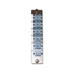 L-Com Global Connectivity - 50-24018 - Adapter Panel Preload 6 Simplex SC MM
