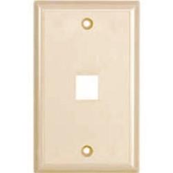L-Com Global Connectivity - 60-06139 - 1 Port Flush Faceplate Ivory
