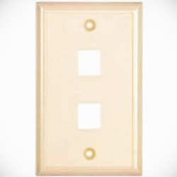 L-Com Global Connectivity - 60-06140 - 2 Port Flush Faceplate Ivory