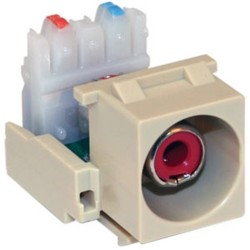 L-Com Global Connectivity - 60-06223 - Red RCA 110 Punchdown Ivory Module