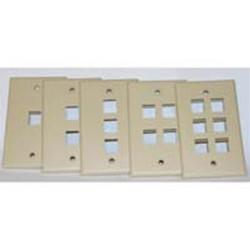 L-Com Global Connectivity - 60-06506 - Milestek Keystone 6 Port Wall Plate Ivory, V2