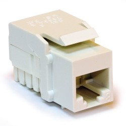 L-Com Global Connectivity - 60-06624 - Milestek Keystone Cat6 RJ45 110 Jack Ivory