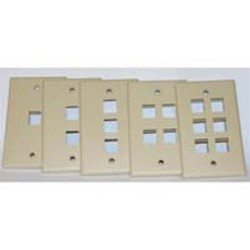 L-Com Global Connectivity - 60-10506 - Milestek Keystone 6 Port Wall Plate White, V2