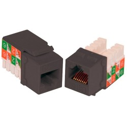 L-Com Global Connectivity - 60-15624 - Milestek Keystone Cat6 Rj45 110 Jack Black