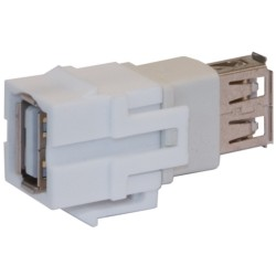 L-Com Global Connectivity - 60-40002 - White USB/A Female To Female Mini Snap In Module