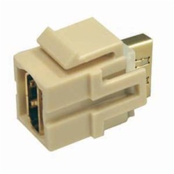 L-Com Global Connectivity - 60-40005 - Ivory HDMI Female To Female Snap In Module