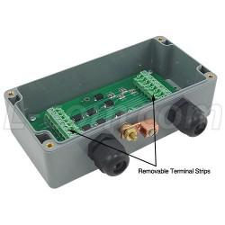 L-Com Global Connectivity - AL-CAT5EW - Weatherproof 10/100 Base-T CAT5e Lightning Surge Protector - Screw Terminals