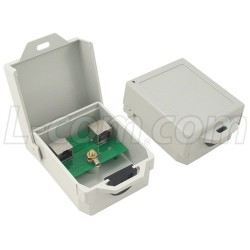 L-Com Global Connectivity - AL-CAT5SJW - Outdoor 10/100 Base-T CAT5 Lightning Surge Protector - Shielded RJ45 Jacks