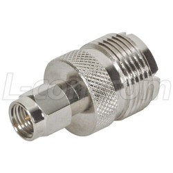 L-Com Global Connectivity - BA27 - Coaxial Adapter, SMA Male / UHF Female
