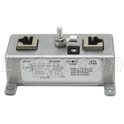L-Com Global Connectivity - BT-CAT5-P1R - Reverse Polarity Single-Port CAT5 PoE Passive Midspan/Injector