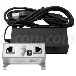 L-Com Global Connectivity - BT-CAT5-P1R4870 - BT-CAT5-P1R Midspan/Injector Kit with 48VDC @ 70W Power Supply