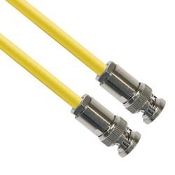 L-Com Global Connectivity - CA-3013-12 - TRB Plug 3-Slot Male to TRB Plug 3-Slot Male 75 Ohm Triaxial Cable 0.245 O.D. 12 in.