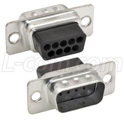 L-Com Global Connectivity - C&P9M-TRAY - DB9 Male Crimp Connectors, Tray 50