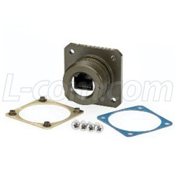 L-Com Global Connectivity - ECSH0103U00 - Category 6, Flange Mount, Zinc-Nickel finish with Grounding Shield and Mounting Hardware