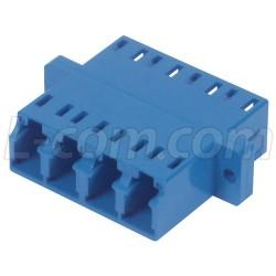 L-Com Global Connectivity - FOA-570 - Fiber Coupler, LC / LC Quad Ceramic Sleeve