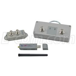 L-Com Global Connectivity - HAKIT-RTGXU-1000 - 1 Watt 2.4 GHz 802.11g Certified Outdoor Amplifier Kit, RP-TNC Connectors
