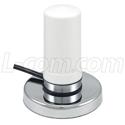 L-Com Global Connectivity - HG245803MGURW-NF - 2.4/4.9-5.8 GHz 3 dBi White Omni Antenna w/ Magnetic Mount - N-Female Connector