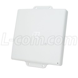 L-Com Global Connectivity - HG2458-08DP-4NF - 2.4/4.9-5.8 GHz 8 dBi Dual Polarized Flat Panel Antenna - N-Female Connectors