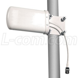 L-Com Global Connectivity - HG2458-08LP-NF - 2.4 GHz to 5.8 GHz Ultra-Wideband 8 dBi Log Periodic Antenna