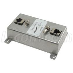 L-Com Global Connectivity - HGLN-CAT5EJW24 - Indoor 10/100 Base-T Shielded 24V PoE CAT5e Lightning Surge Protector