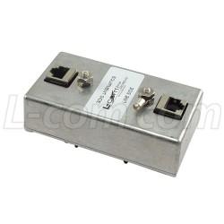 L-Com Global Connectivity - HGLND-CAT5EJW - Indoor DIN Mount 10/100 Base-T Shielded CAT5e Lightning Surge Protector
