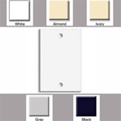 L-Com Global Connectivity - LE-88014 - Single Gang Blank Wall Plate White