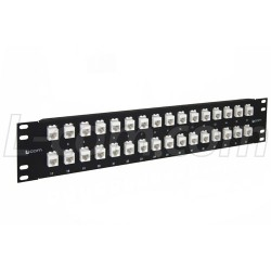 L-Com Global Connectivity - PR35C5E-32M - 3.50 32 Port Low Profile Straight Category 5e Feed-Thru Panel, Unshielded Low Profile Mini-Coupler
