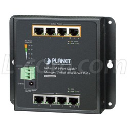 PLANET Technology - WGS-804HPT - Industrial 8-Port 10/100/1000T Wall-Mount Managed Switch with 4-Ports PoE+