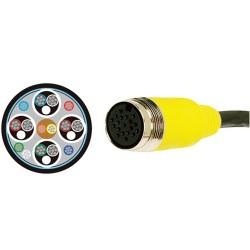 L-Com Global Connectivity - QC02-C-35 - Plenum Quick-connect Type C Digital Cable 35ft