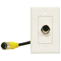L-Com Global Connectivity - QC04-D19-FP - Quick-connect Type C Din19 Wall Plate