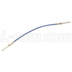 L-Com Global Connectivity - RA50M - Crimp & Poke Male / Male Jumper, Pkg/10