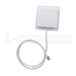 L-Com Global Connectivity - RE09P-SM - 2.4 GHz 8 dBi Flat Patch Antenna - 4ft SMA Male Connector