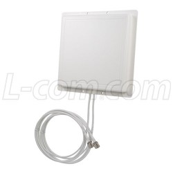 L-Com Global Connectivity - RE11DS-RSP - 2.4 GHz 11 dBi Dual Spatial Diversity/MIMO/802.11n Antenna - 3ft RP-SMA Plug Connecto