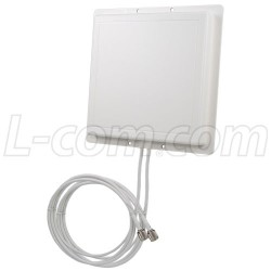 L-Com Global Connectivity - RE11DS-RTP - 2.4 GHz 11 dBi Dual Spatial Diversity/MIMO/802.11n Antenna - 3ft RP-TNC Plug Connector