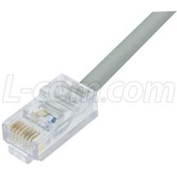L-Com Global Connectivity - TRD450-2 - Cat. 5 10Base-T Patch Cable, RJ45 / RJ45, 2.0 ft