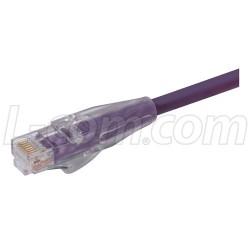 L-Com Global Connectivity - TRD695VLT-60 - Premium Cat 6 Cable, RJ45 / RJ45, Violet 60.0 ft
