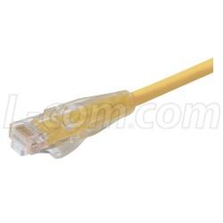 L-Com Global Connectivity - TRD695Y-2 - Premium Cat 6 Cable, RJ45 / RJ45, Yellow 2.0 ft