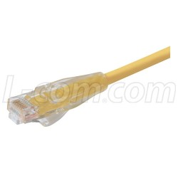 L-Com Global Connectivity - TRD695Y-5 - Premium Cat 6 Cable, RJ45 / RJ45, Yellow 5.0 ft