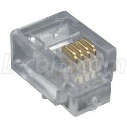 Stewart Connector - 940-SP-3046R - Modular Plug, RJ11 (6x4), Radius Entry Pkg/100