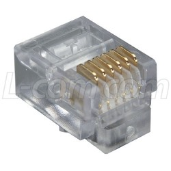 Stewart Connector - 940-SP-3066R - Modular Plug, RJ12 (6x6), Radius Entry Pkg/100