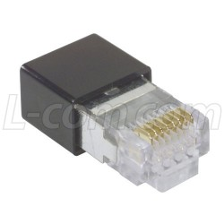 Stewart Connector - 943-SP-370808SM2-A264 - Modular Plug, RJ45(8x8) Category 5/5E Shielded, Rear Housing, Pkg
