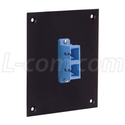 L-Com Global Connectivity - USP1FOPT-DSCB - Universal Sub-Panel, 1 Duplex SC Coupler